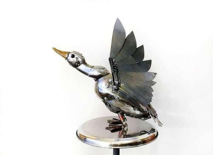 Потрясающие работы из металлолома от российского скульптора Игоря Верного <br><img class=
