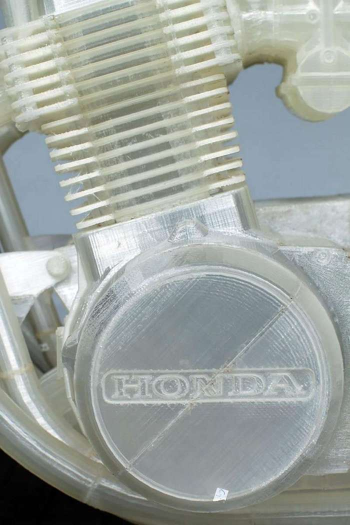 Мотоцикл Honda напечатанный на 3D-принтере <br><img class=