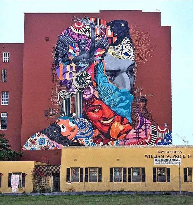 20 крутых работ уличных художников со всего мира <br><br><b> <b>Tristan Eaton (США)</b> </b><br><img class=