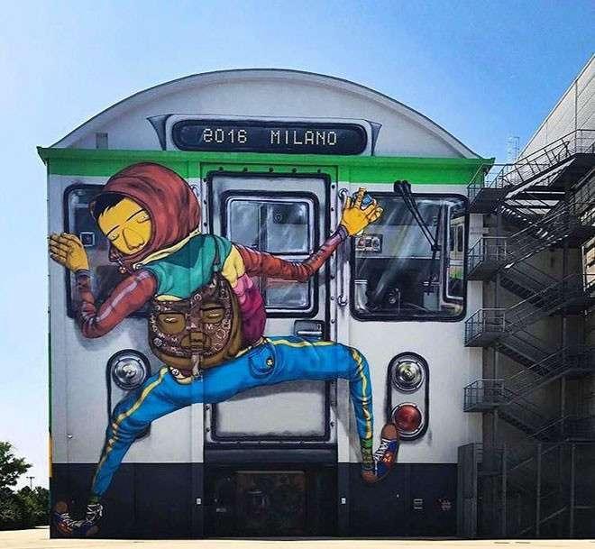 20 крутых работ уличных художников со всего мира <br><br><b> <b>Osgemeos (Бразилия)</b> </b><br><img class=