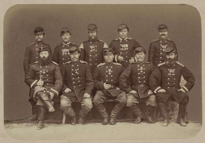 Очень интересные исторические фото <br><br><b> <b>Георгиевские кавалеры, 1865 год, Ташкент, Российская империя</b> </b><br><img class=