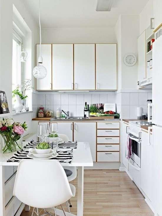 Гениальные дизайнерские решения для маленькой кухни -21 фото-
