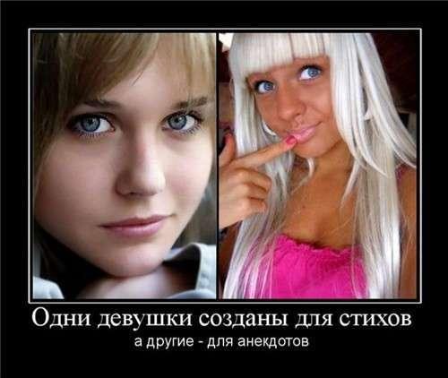 Демотиваторы с девушками -22 фото-