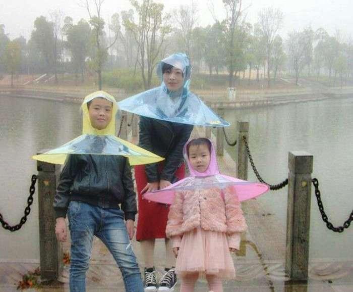 Китайские дизайнеры придумали дождевую шляпу -4 фото-
