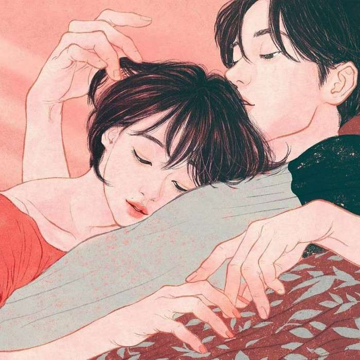 Художница настолько хорошо рисует любовь и близость между людьми, что ты почти чувствуешь их -13 фото-