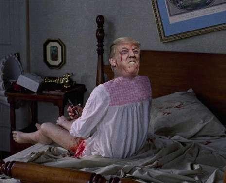Дональд Трамп в образе героев ужастиков до смерти пугает избирателей-16 фото-