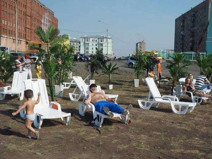 Отдых под пальмами в Норильске-7 фото-