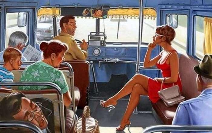 Скандал вокруг места в автобусе. Финал был неожиданным-2 фото-