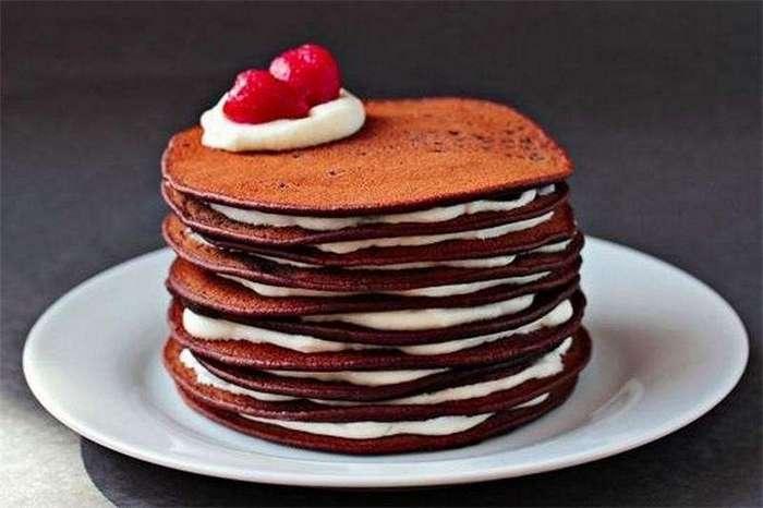 Шоколадный торт из блинчиков-6 фото-