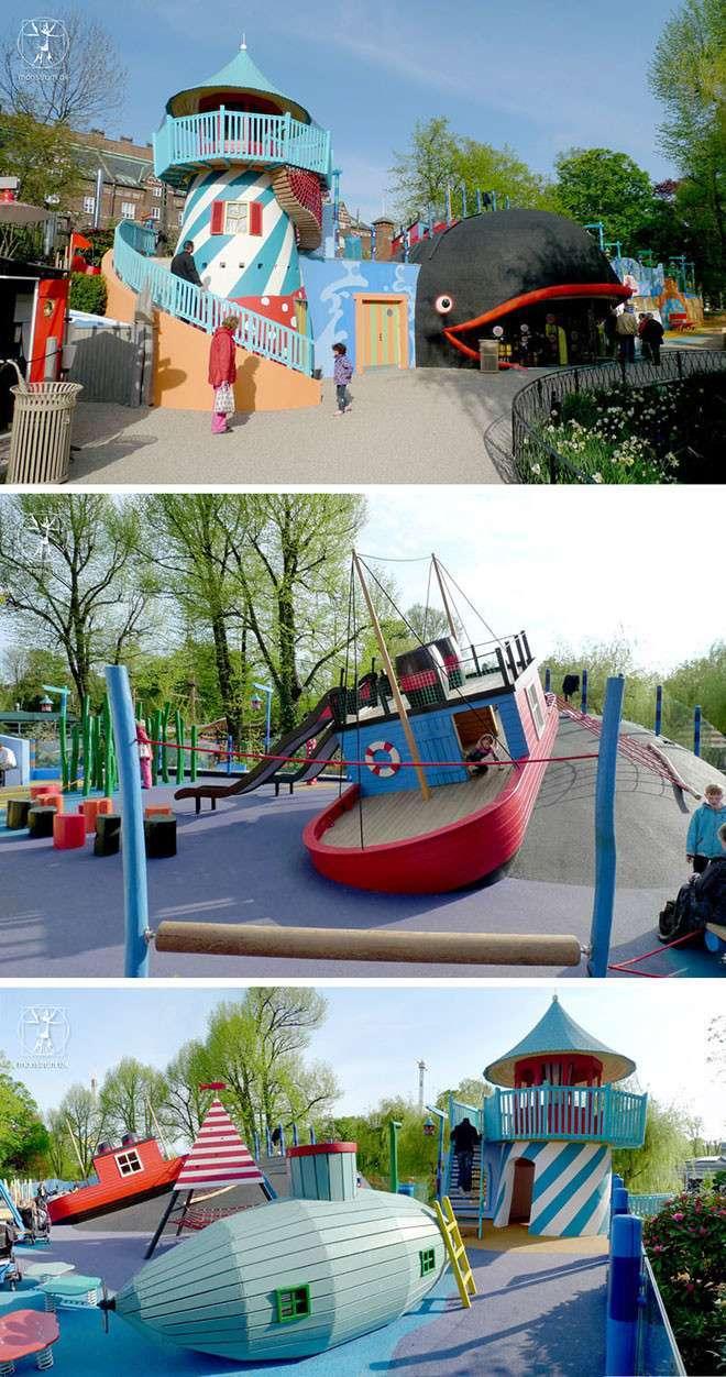 15 кретивных детских площадок, заставляющих сожалеть, что ты уже не ребёнок-15 фото-