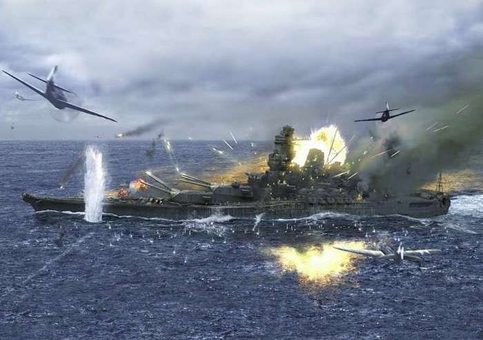 Гибель самого большого японского авианосца или 17 часов унижения и славы-8 фото-