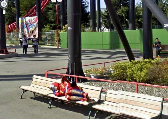 Странные снимки Google Street View-30 фото-