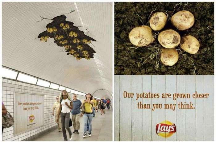 Гениальные шедевры рекламы-25 фото-