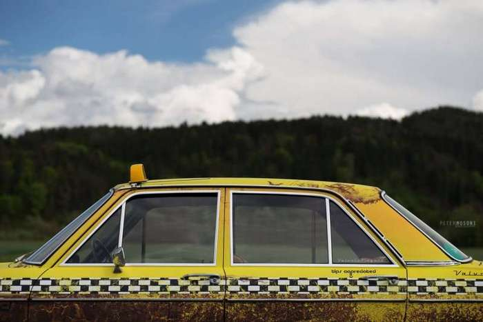 Классический Audi 100 в стиле состаренного такси-18 фото-