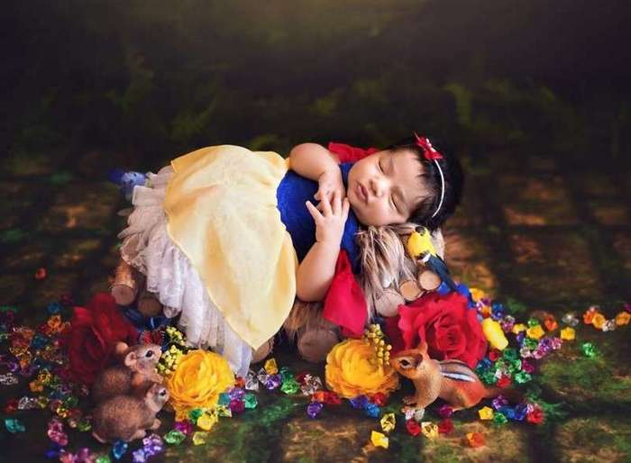 Эта фотосессия никого не оставит равнодушным: новорожденные в образе диснеевских принцесс-13 фото-