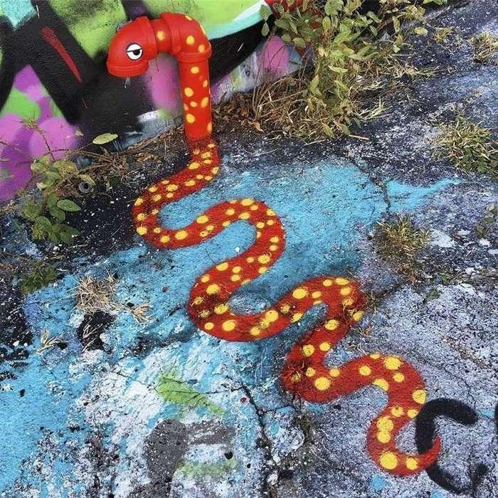 Яркий стрит-арт от Тома Боба-22 фото-