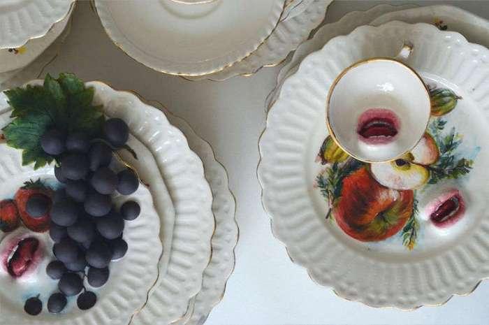 Израильский скульптор создает керамическую посуду, которая может от вас убежать