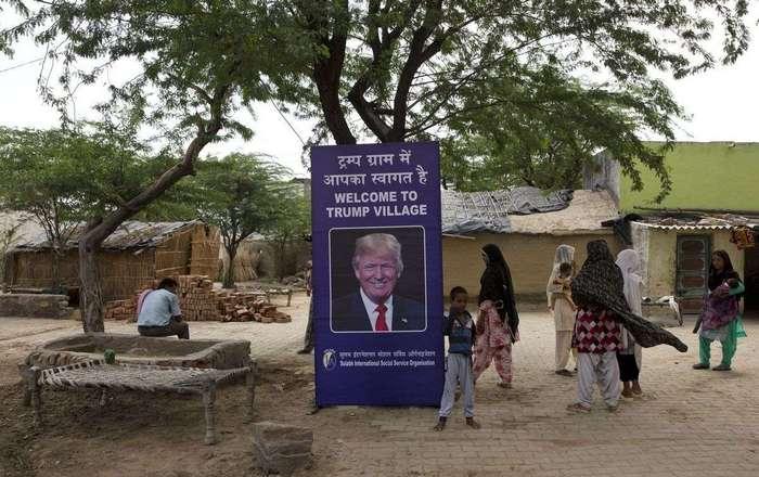 Деревню назовут в честь Трампа в обмен на туалеты