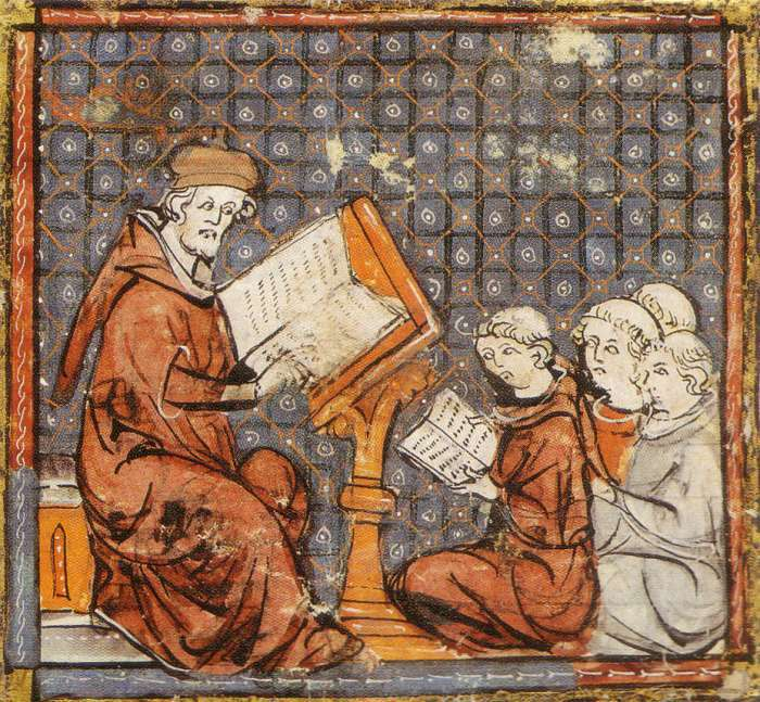 Ритуал инициации в студенты в Средние века