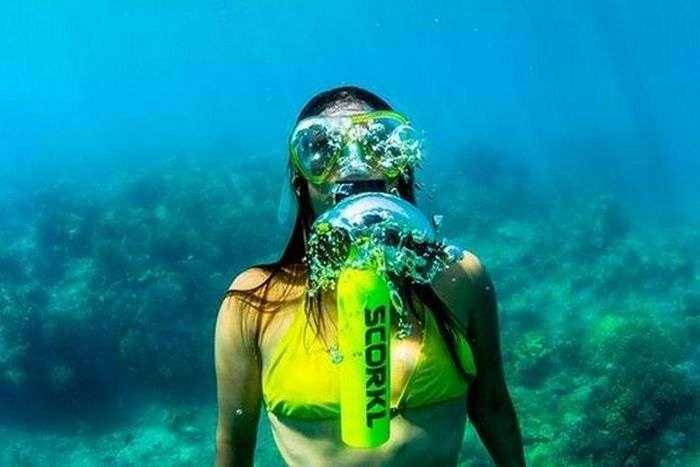 Мини-баллон для дайверов, которые заменит громоздкий акваланг