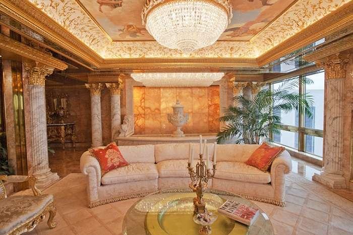 Белый дом тихо плачет: Дональд Трамп показал фото шикарных апартаментов своей семьи в Нью-Йорке