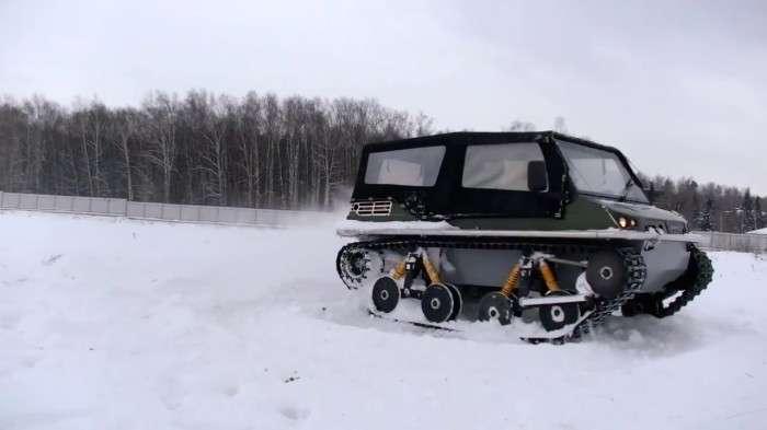 Российский вездеход Terranica Dreamtrack с пластиковыми гусеницами, который пройдет где угодно