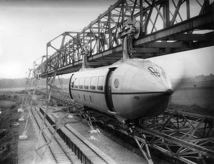 -Летящие над землей-: как появились первые реальные поезда-самолеты