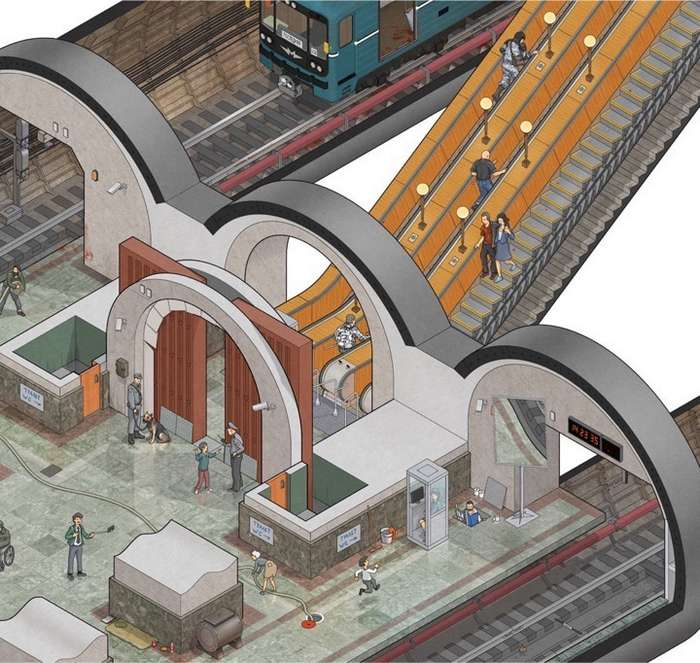 От зомби будем прятаться в метро!