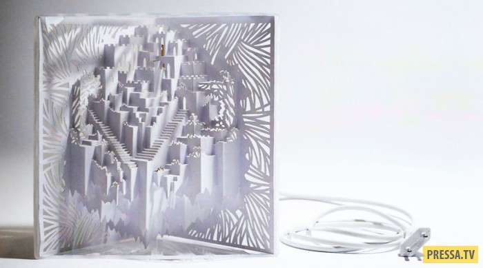 Трехмерный замок-лампа (5 фото)