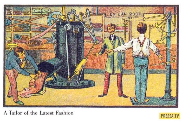 Как люди в XX веке представляли себе будущее – старинные гравюры! (35 фото)