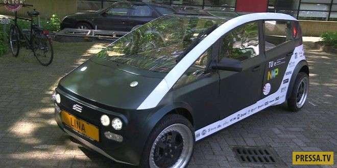 Lina - биоразлагаемый автомобиль из сахарной свеклы и льна (4 фото)