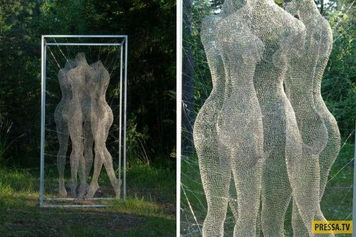 Скульптор из России делает невероятные шедевры из проволоки! (11 фото)
