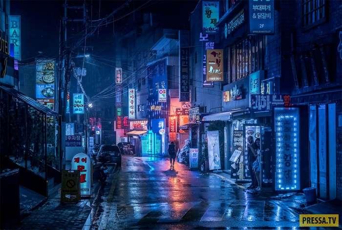 Неоновая прогулка по Азии (10 фото)