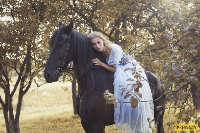 Девушки и лошади – потрясающе красивая подборка! (13 фото)