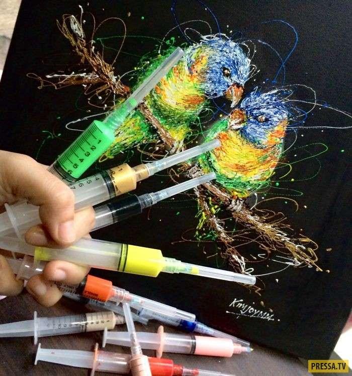Медсестра-художник рисует шприцами – такого вы еще не видели! (15 фото)