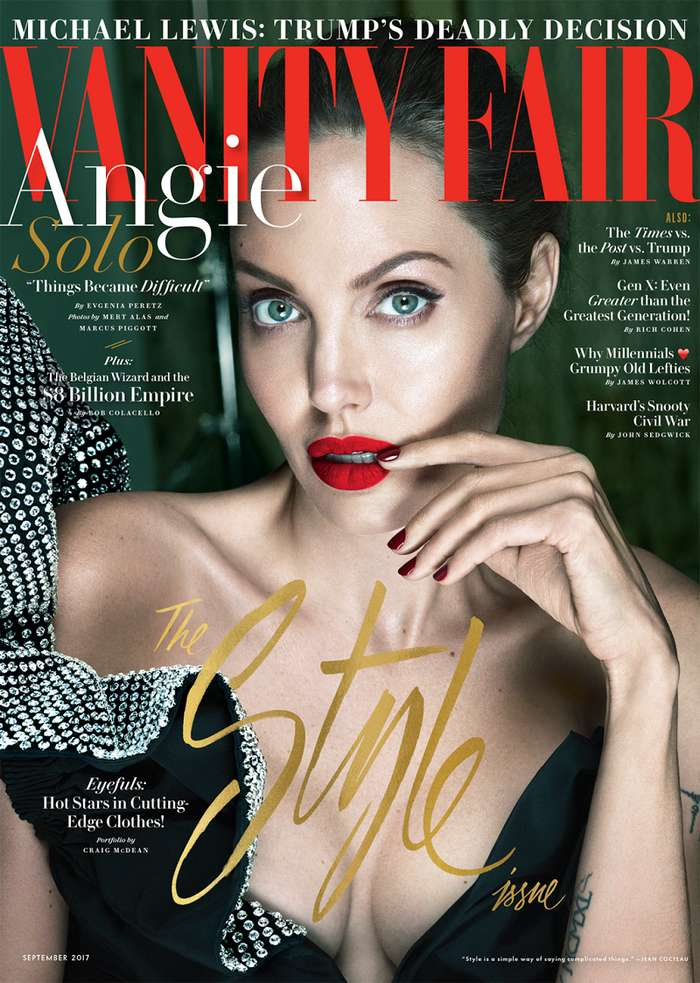 Анджелина Джоли впервые после развода засветилась в дерзкой фотосессии