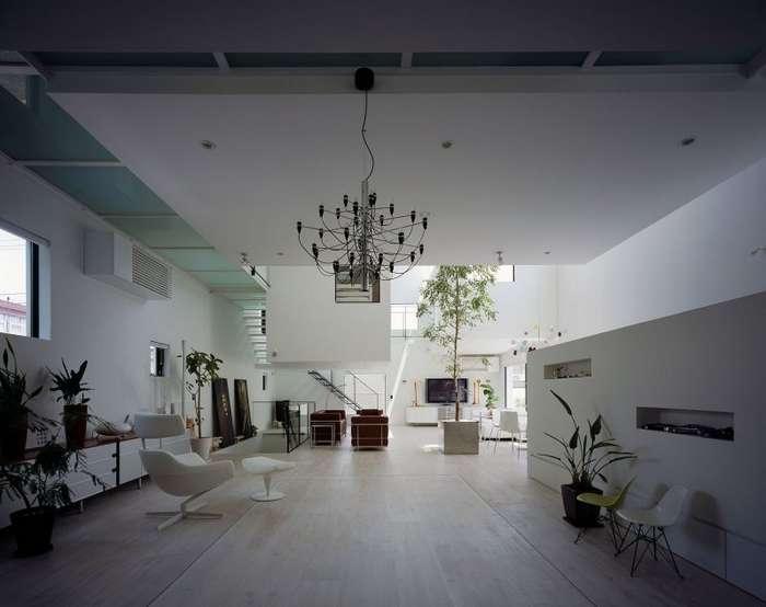 Частный дом в Японии для любителя автомобилей-19 фото + 1 гиф-