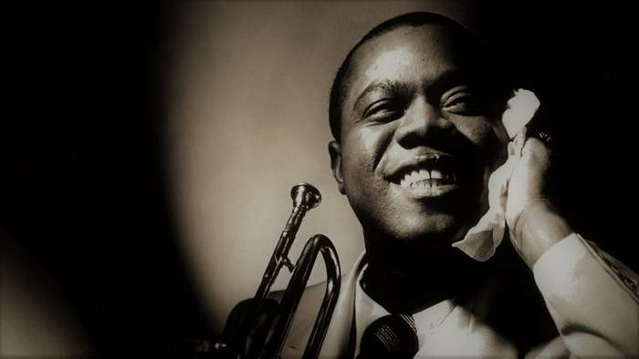 a biography of louis armstrong an american jazz musician In his teens he learned music by listening to the pioneer jazz american musicians, louis armstrong music - biography of louis armstrong.