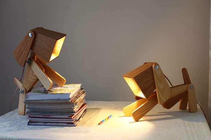 Деревянная лампа своими руками-38 фото-