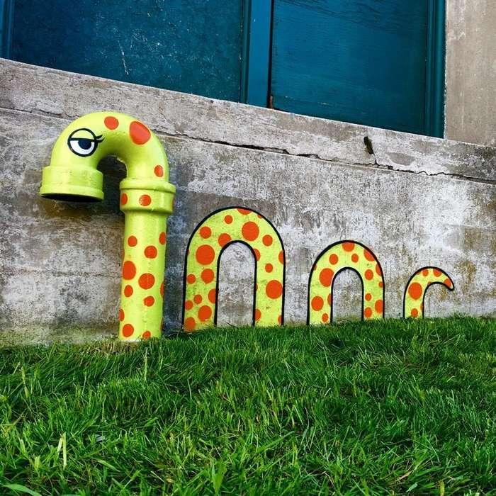 Уличный художник из Нью-Йорка делает из старья конфетку-42 фото-