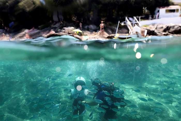 Уникальные чудеса подводного парка в Хорватии, по которому можно гулять пешком-11 фото-