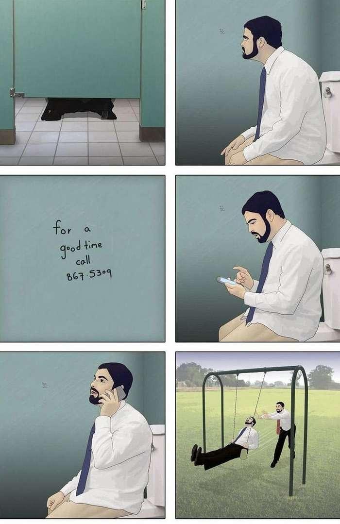 Смешные комиксы с неожиданным концом, в которых нет ни единого слова-24 фото-