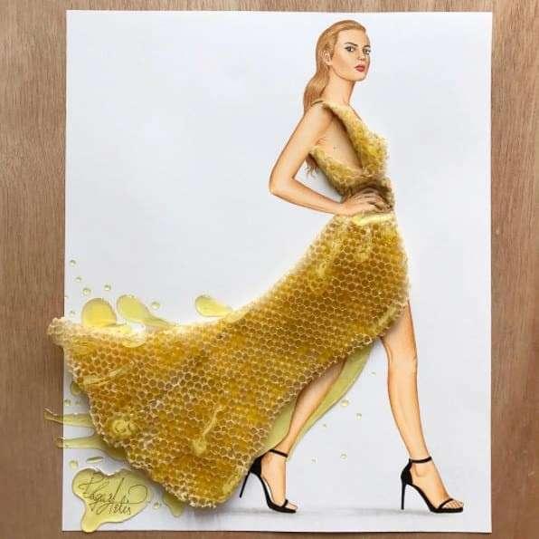 Этот художник публикует в Instagram модные наряды из продуктов-21 фото-