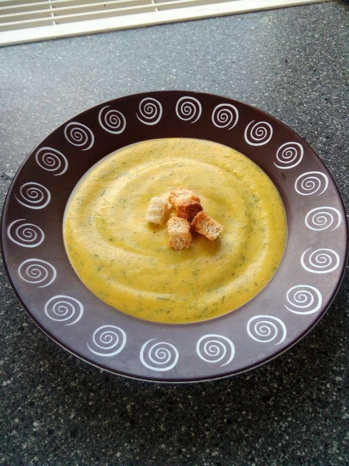 Кабачковый суп-пюре-8 фото-