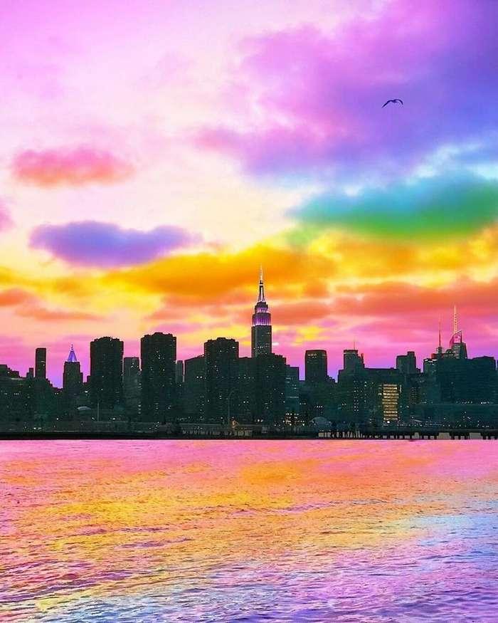 Художник из Нью-Йорка делает мир радужным-46 фото-