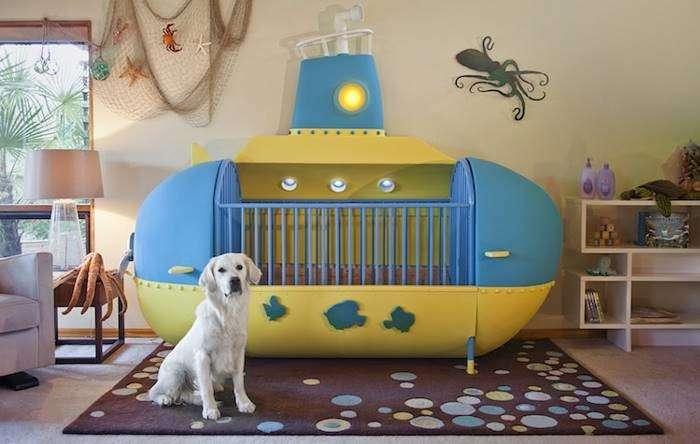 Креативный папа создал детскую кроватку в виде подводной лодки и она просто потрясающая-19 фото + 2 гиф-