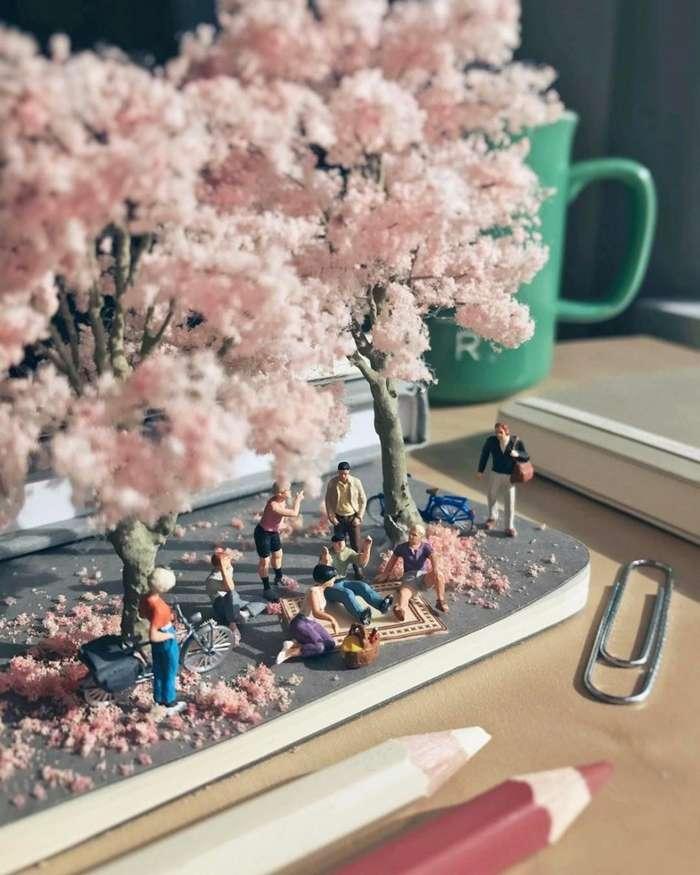 Твой офис в миниатюре: парень визуализирует рабочие проблемы-16 фото-