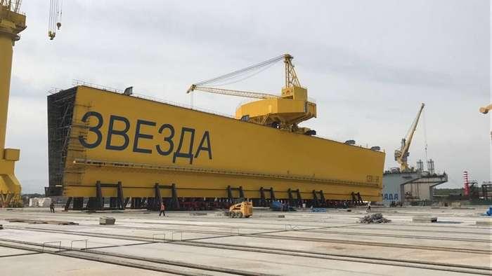 Суперверфь -Звезда- приступает к установке крупнейшего крана в России-14 фото-