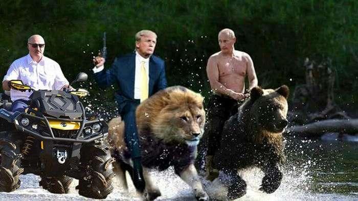 Лукашенко на квадроцикле взорвал интернет, став мемом-30 фото-