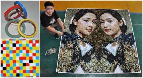 Филиппинский художник создает удивительные портреты из самых неожиданных предметов (9 фото)